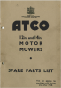 "Parts List for an Atco 12"" & 14"" Flat Handle Side Kick Start with a 2-Stroke Engine:"