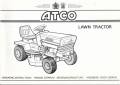 Atco Lawn Tractor Operating Instructions