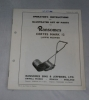 Ransomes CERTES MARK 12 Lawn Mower Manual (1966)