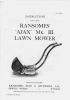 Ransomes Ajax Mark III Lawn Mower Instructions