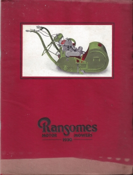 1930' Ransomes Full Colour Brochure