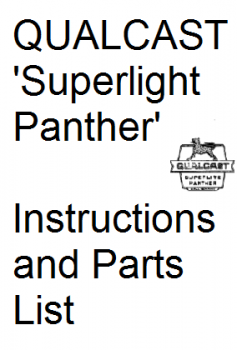 Qualcast 'Superlite Panther' Manual and Parts List